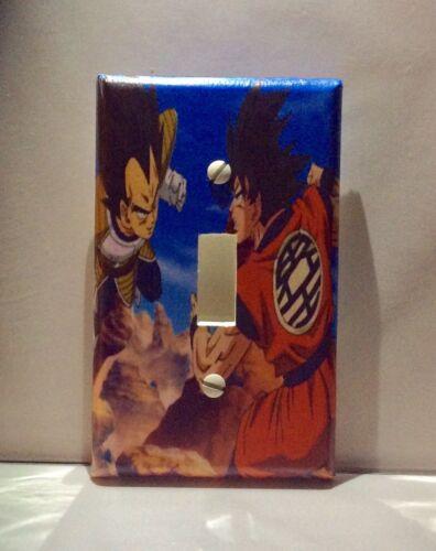 Custom Handmade Goku Vs Vegeta Single Toggle Light Switch Cover