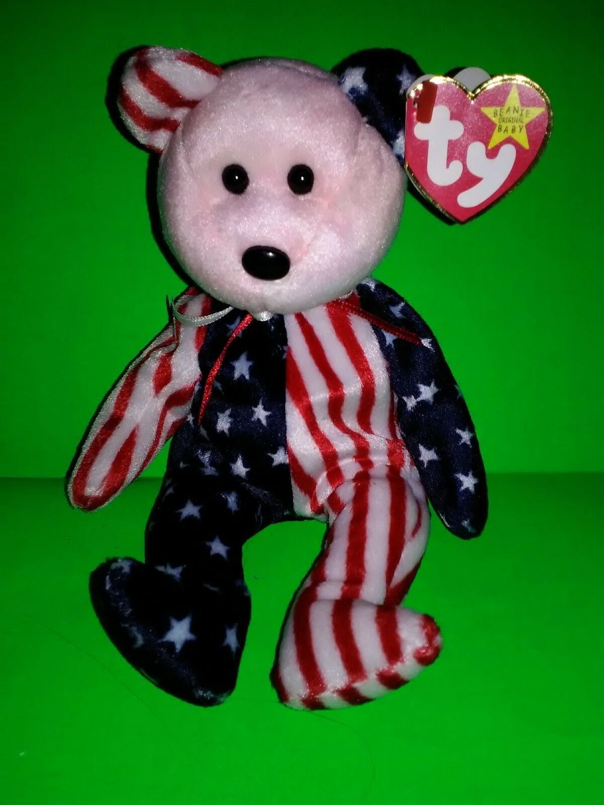 Ty Beanie Baby Original  Spangle' Pink Face, Tag Errors DOB June 14th 1999