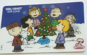 Walmart-Gift-Card-Lenticular-Peanuts-Christmas-Snoopy-Charlie-Brown-No-Value