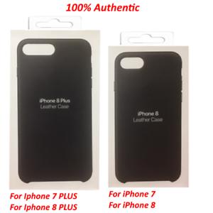 New-Genuine-Apple-iPhone-8-Plus-7-Plus-amp-iPhone-7-8-Leather-Case-Black