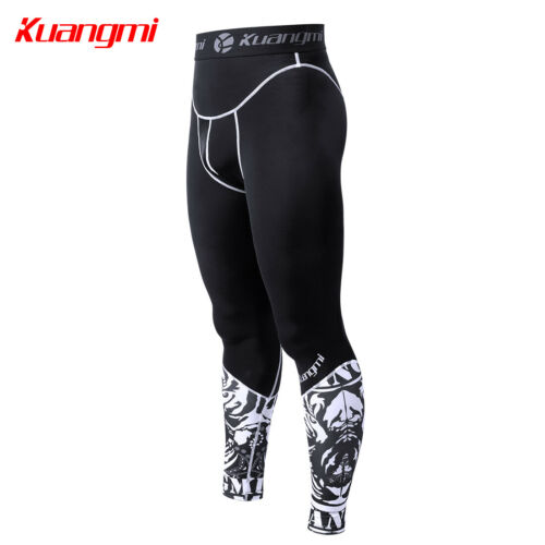 Kuangmi Compression Tights Pants Clothes Gym Running Sport Cycling basketball