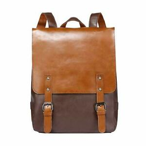 ZEBELLA-Womens-Leather-Backpack-Vintage-Brown-Travel-College-Bookbag-BOX-13