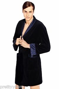 Men Gents Luxury SOFT cotton Bath Robe Housecoat Dressing Gown ... a3fbf8a4271c
