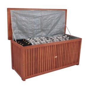 Das Bild Wird Geladen Auflagenbox Akazie Oder Eukalyptus Geoelt Gartenbox Polsteraufbewahrung