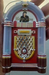 Michael Jackson, King of Pop, jukebox -Musical Christmas Ornament Vintage