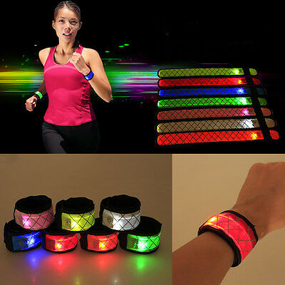Cool Fine Flashing LED Glow Armband Visible Belt Strap Sports Cycling 2017
