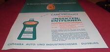 prospekt blatt caramba insekten entferner reiniger produkt reklame werbung 1965