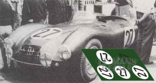 Calcas Aston Martin DB3S Le Mans 1953 1:32 1:24 1:43 1:18 slot decals