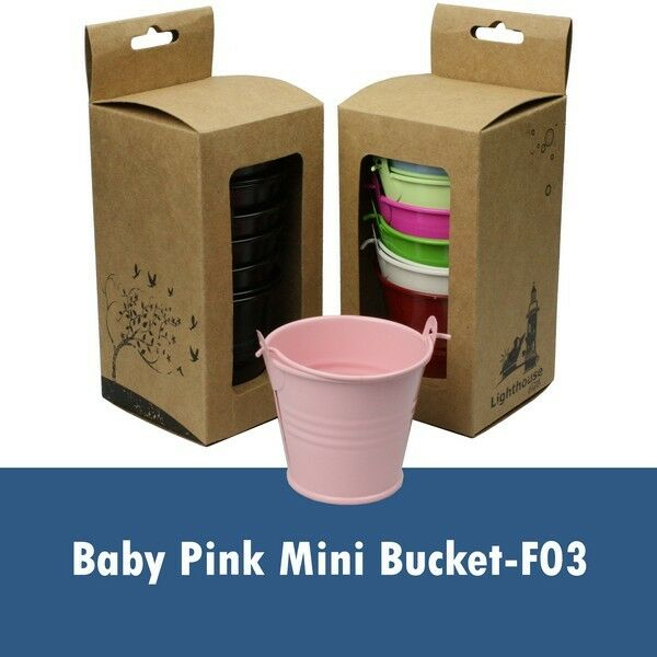 Mini Buckets Candy Favours Pail Bucket Wedding Party Gifts Multi-Colour Choices