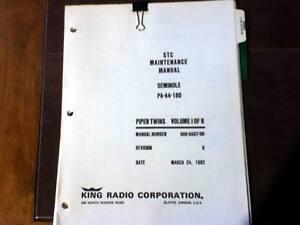 kfc 200 autopilot in piper pa 44 180 service manual ebay rh ebay com King KFC 200 Auto Pilot king kfc 200 manual