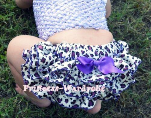 Baby Leopard Print Purple Trim Panties Bloomers 6m-3Y