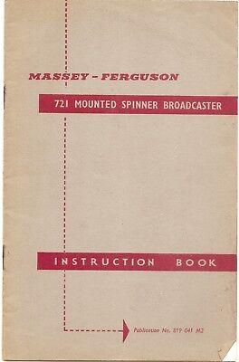 Original Manual Other Ferguson Mounted Spinner Broadcaster Instruction Book ........