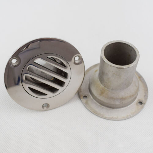 """1-1//2 /"""" Inch Deck Straight Drain Yatch Marine Stainless Steel Serviceable Boat"""