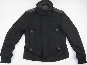 CLASS Roberto Cavalli Black Wool Blend Bomber Jacket Mens Size Euro ... c539d164a37