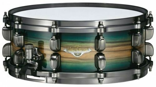 Tama Starclassic Maple 13  X 6  Deep Snare Drum Emerald Pacific Walnut Burst New