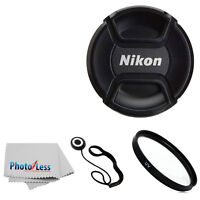 Genuine Nikon 52mm Front Lens Cap Lc52 For 55-200mm 50mm 18-55mm 35mm Lense + Uv