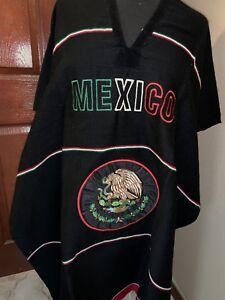 Unisex Adult One Size Multi-Color Mexican Zarape Serape Poncho Folklorico NWOT