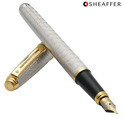 Sheaffer Prelude Signature Silver /& 22KT Gold Snakeskin Pattern Fountain Pen