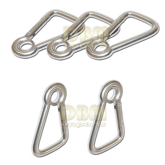 5 PC Marine  Carabiner Clip Spring Snap Link Hook Eyelet 3 8  Stainless Steel  a lot of concessions