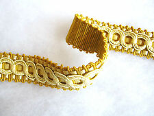 Wide decorative braid border 3.3cm fabric upholstery trimming Yellow gold Per MT