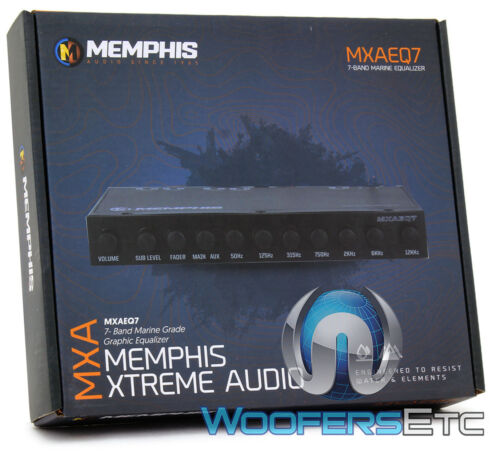 MEMPHIS MXAEQ7 7-BAND MARINE BOAT PRE AMPLIFIER EQUALIZER 8 VOLT OUT EQ AUX IN