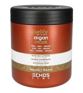 Echosline Seliar/Argan Maske mit mit Seidenproteinen, Leinsame 1000ml/Haarpflege