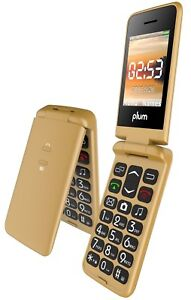 Plum Flipper Unlocked GSM Flip Phone Tmobile MetroPCS Simple mobile Lyca -...