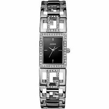Guess W11545L2 Women's Silver Tone St Steel Crystal G Link Bracelet  Watch