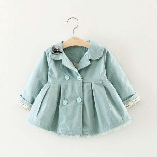 Toddler Infant Girl Outerwear spring winter Button Coat Cotton Jacket Clothes
