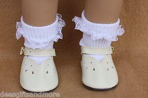 "Pink Lace Rosebud Ribbon Socks 18/""  Doll Clothes Fits American Girl Dolls"