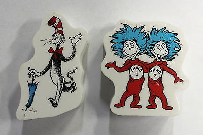 Seuss Cat In The Hat Giant Erasers Styles 1 /& 2 Set of 4 Dr