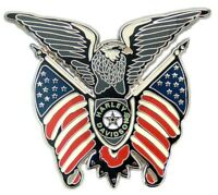 Harley Davidson Eagle Flag Fat Boy Logo Die Cast Harley Pin