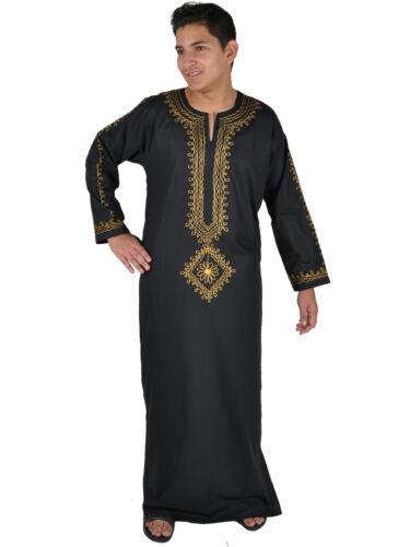 Beautifull Elegant Modern Men/'s Kaftan from 1001 Night in Black KAM00632