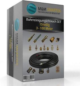 Rohrreinigungsschlauch 15-Teilig für Kärcher Kränzle NILFISK ALTO WAP Bosch B&D