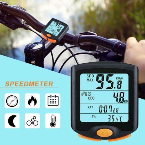 Bike Fahrradcomputer kabellos Funk Fahrradtacho Radtacho Kilometerzähler LCD