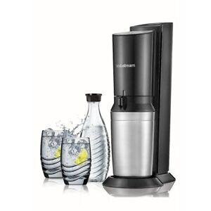 SodaStream Crystal Sparkling Water Maker Black & Metal Brand New