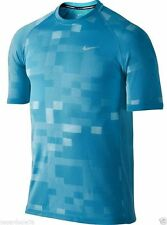 Nike Running Dri-FIT Contrast Knit Shirt Short Sleeve Blue Size M 683604 407