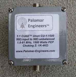 Palomar-Engineers-CU-1-1500-1-1-Antenna-Feedline-Choke-Unun-1-5KW-PEP-Balun