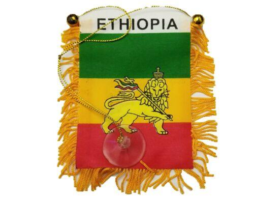 Lion Of Judah Ethiopia Mini Banner Flag Car Home  Rearview Mirror Ethiopian Gift