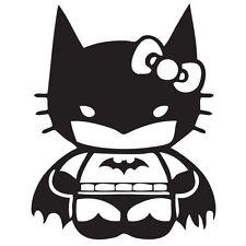 Hello Kitty Batman Decal Sticker Car Truck Window Bumper Jdm Euro Mackbook Funny
