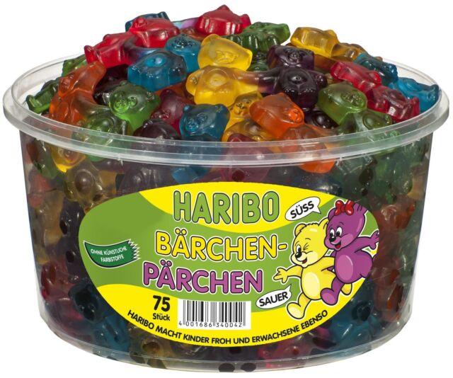(1000g=4,58€) Haribo Bärchen Pärchen - Fruchtgummi Bären - 75 Stück
