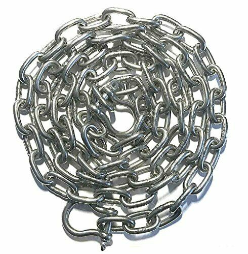 "Stainless Steel 316 Anchor Chain 5mm or 3//16/"" by 6/' long with quality shackles"