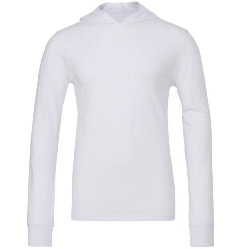 Canvas Unisex Jersey Long Sleeve Hoodie 3512 Bella Polycotton Plain Pullover