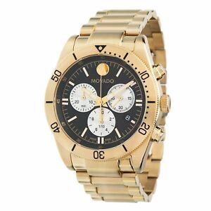 Movado 0607440 Men's Movado Sport Gold-Tone Quartz Watch