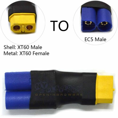 No Wires Connector EC5 Male Adapter to XT60 Female Connector for Battery