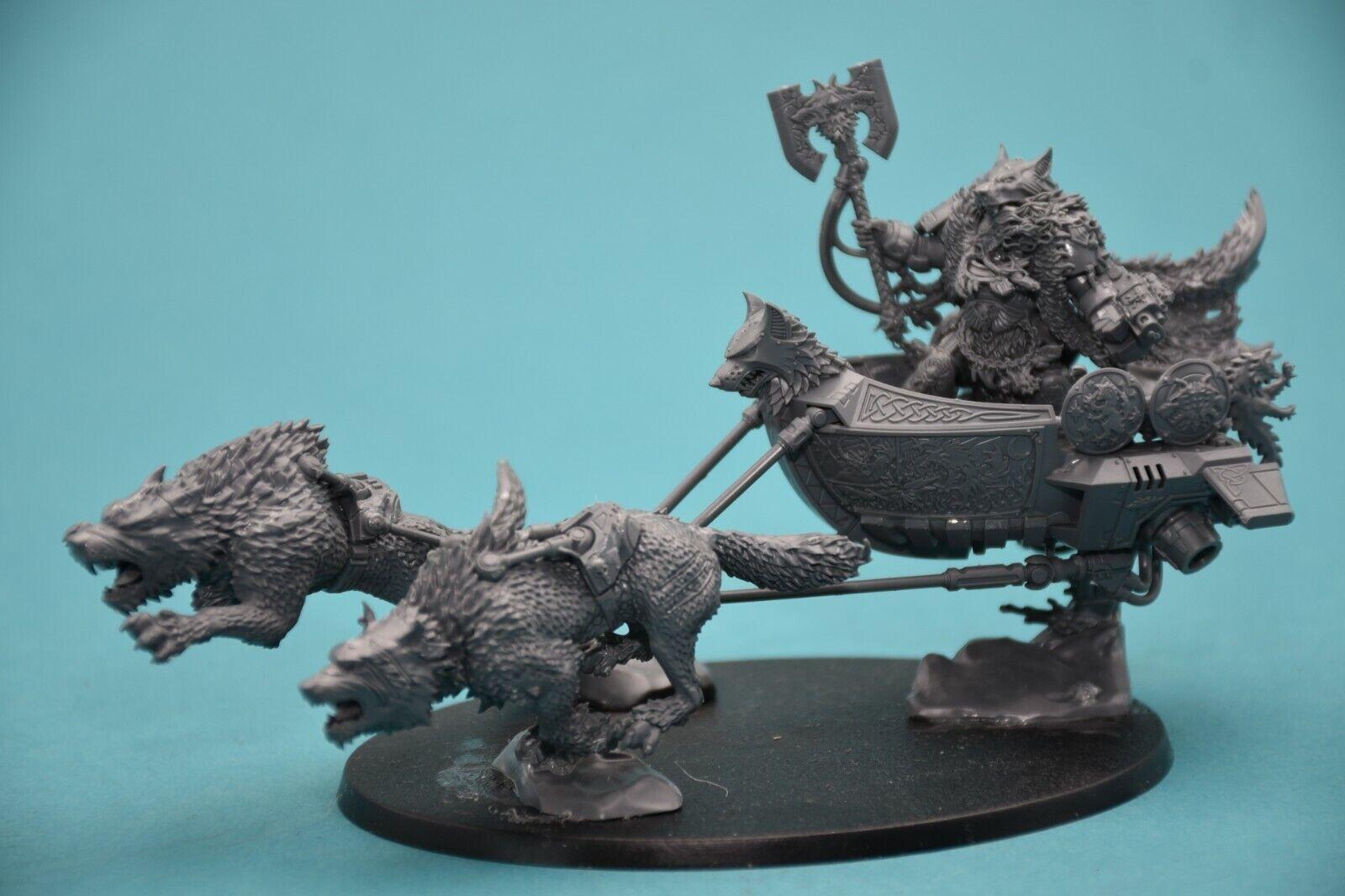 Warhammer 40k Space Wolves Logan Logan Logan Grimnar on Stormrider eec