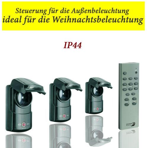 3er Set Funk Steckdosen Außenbereich  mit Fernbedienung Schalter Steckdosen IP44