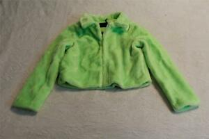 Details about Brave Soul Women's Rome Neon Cropped Faux Fur Jacket JM4 Neon Green Large NWT