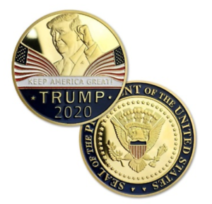 200 Donald J Trump 2020 Keep America Great Commander Chief Gold Challeng Coin RF