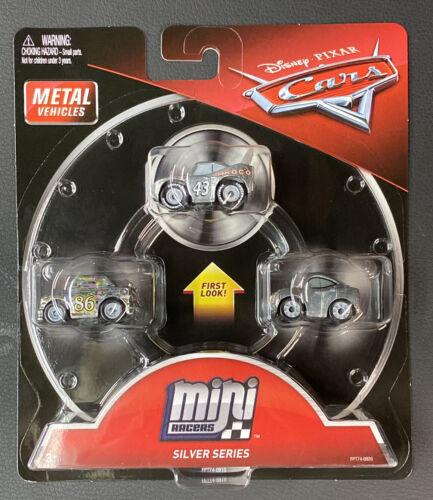 Disney Pixar Cars Mini Racers Silver Series 3-Pack 2017 NEW